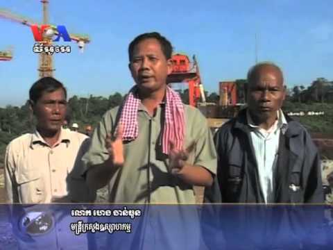 Hydro-Electricity Dam on Atay River in Pursat Collapse