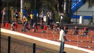 100 metros con vallas femenil semifinal 1ra carrera Universiada Nacional 2013