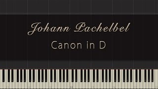 Johann Pachelbel Canon In D Synthesia Piano Tutorial