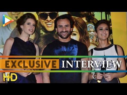 Saif Ali Khan Ileana DCruz Kalki Koechlin Exclusive on Happy Ending Part 2
