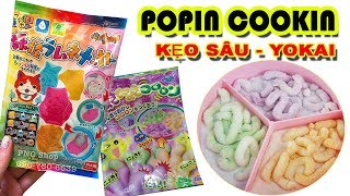 Đồ chơi Popin Cookin Nhật bản làm kẹo sâu và yokai - Đồ chơi nấu ăn Popin Cookin (Chim Xinh)