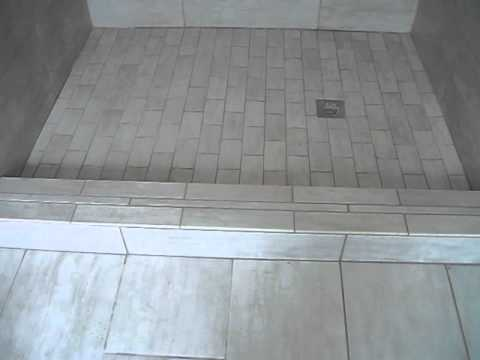 12x24 porcelain shower youtube for 12x24 bathroom tile ideas