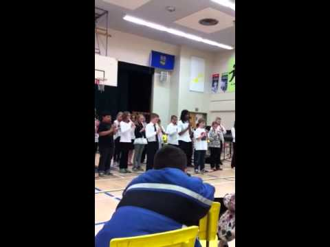 St. Anthony's Grade 5 recorder class performs at music festival