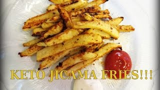 "KETO ""FRENCH FRIES"" - JICAMA FRIES LOW CARB RECIPE - DELICIOUS!"