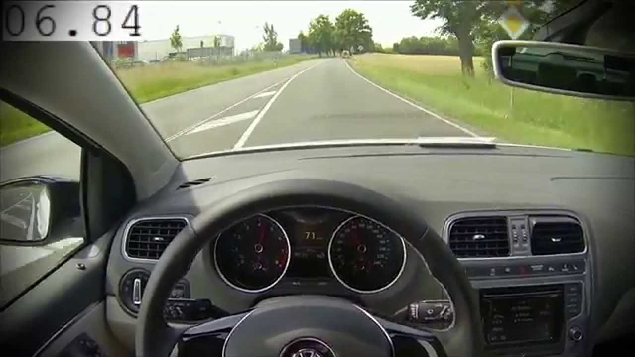 VW Polo 1.2 TSI Acceleration 0-100 Testdrive Facelift 2014 - YouTube