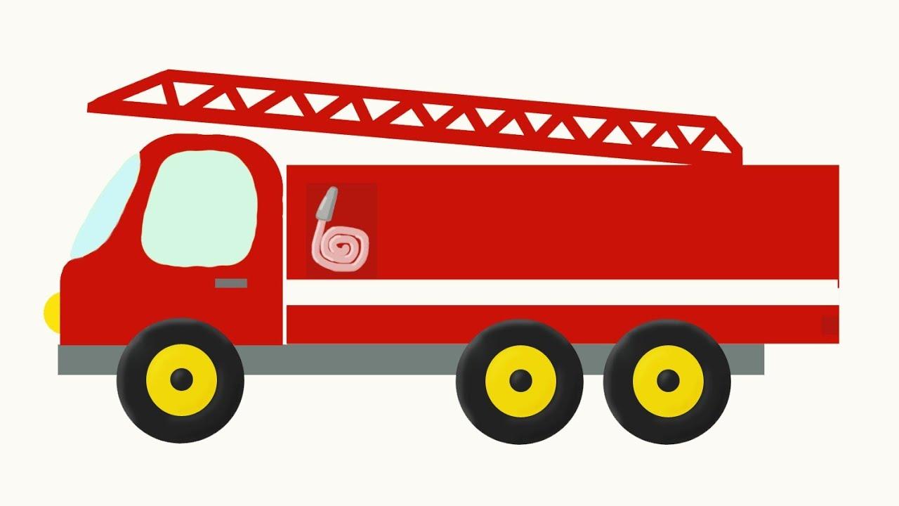Раскраски пожарная машинка