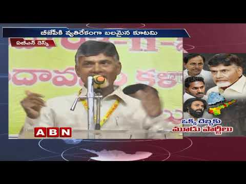 CM Chandrababu Naidu targets TRS, YCP, Janasena Parties | ABN Telugu