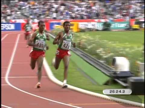 Bekele-Gabrselassie-10,000m,World Championships,Paris,2003