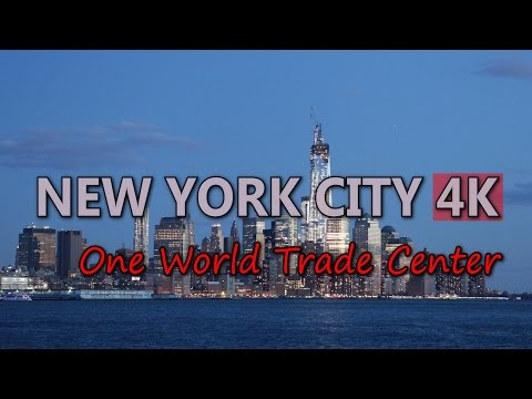Ultra HD 4K New York City One World Trade Center 1 WTC Tower NYC Skyscrapers UHD Video Stock Footage