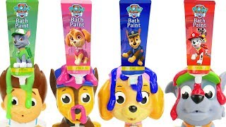 Paw Patrol Bath Time with Squirters