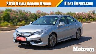 2016 Honda Accord Hybrid Road Test Review   Motown India