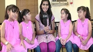 We saw a dinosaur - The quadruplets of Enna Satham Indha Neram speak - BW