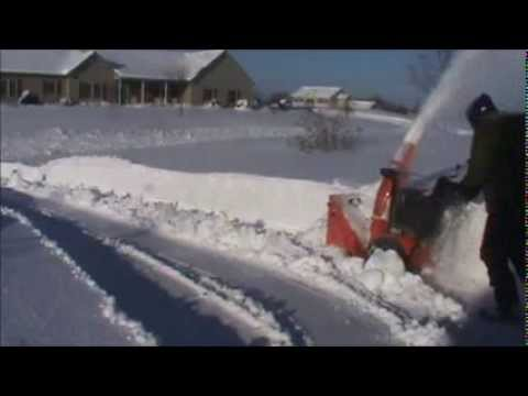 Ariens Snowblower Over 2 Feet of Snow