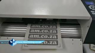 V Auto A3 Size Fully Automatic Label Cutting Machine with Continues Auto Sheet Feeder Demonstrated