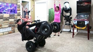 CRAZY INDOOR WHEELIE CHALLENGE!!
