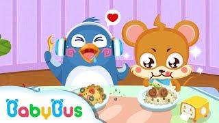 Makan-makan Sendiri | Anak Mandiri | Kartun Anak | BabyBus Bahasa Indonesia