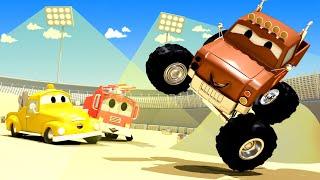 Xe lửa Troy - Marley xe tải quái vật trình diễn kĩ năng cho các xe hơi nhí !