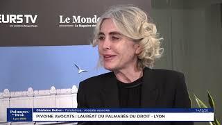 Décideurs du Droit - Pivoine Avocats - Lauréat du Palmarès du Droit - Lyon 2020