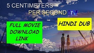 5cm per second full movie download in hindi
