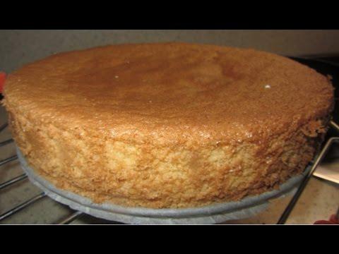 как приготовить бисквит с видео