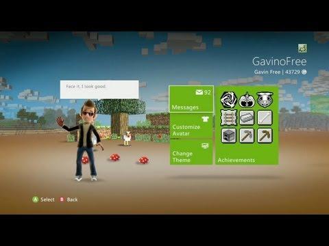 How to Unlock a Free Minecraft Xbox 360 Dashboard Theme