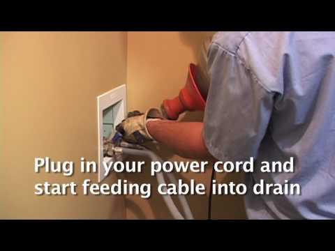 Unclogging washer drain