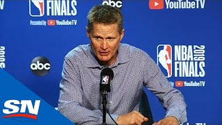 Warriors' Steve Kerr Congratulates Raptors On NBA Championship