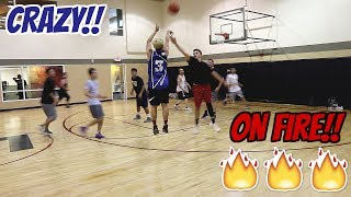 SUPER INTENSE BASKETBALL GAME!! NO ONE COULD MISS!! 🔥