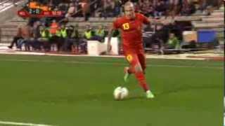 radja Nainggolan goal for belgium vs ivory coast friendly 2014
