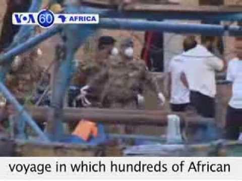 VOA60 Africa 11-08 Italy: Somali man arrested for shipwreck that kicked hundreds.