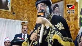 البابا تواضروس يشرح معاني أحرف كلمة مصر في دير القديسة «دميانة»