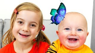 Kids story in English about how Ulya and Mom caught a butterfly