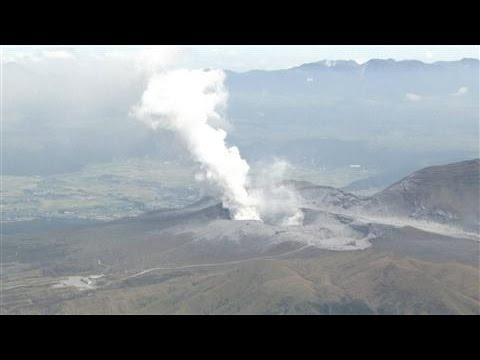 Japan's Aso Volcano Erupts