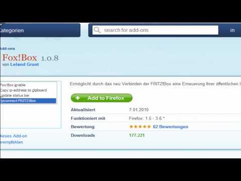 IP ändern mit einen Fritzbox Mozilla Firefox Addon