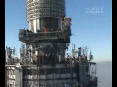 Прыжки с останкинской башни / jumping from Ostankino Tower