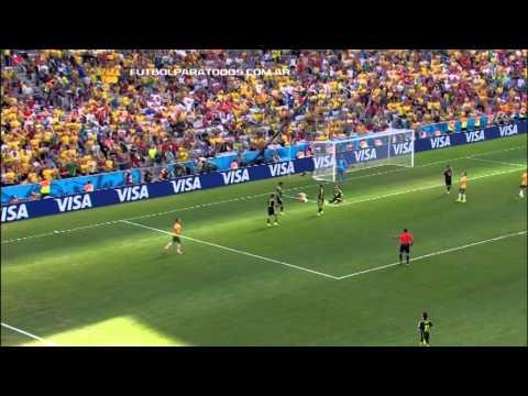 Lo mejor de España 3 - Australia 0. Mundial Brasil 2014. Fútbol Para Todos.