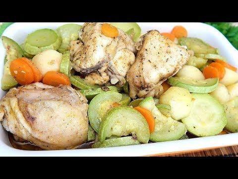 Овощи с курицей в рукаве. Сочнейшая вкуснятина