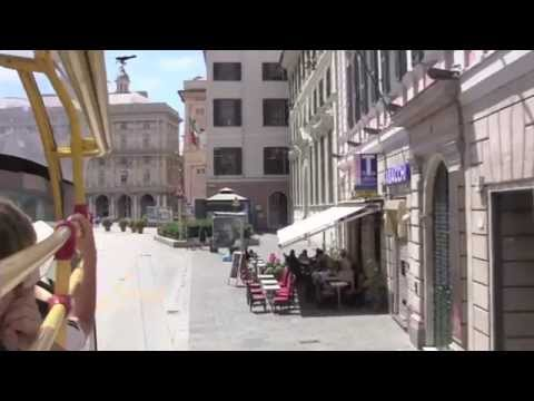 Genoa: Views from a City Sightseeing Bus, Italy - 13th July, 2014