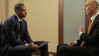 C.J. McCollum Interviews NBA Commissioner Adam Silver
