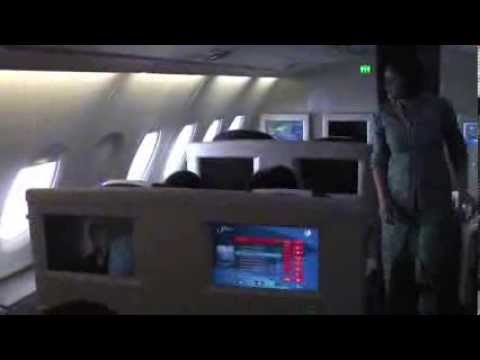 Business Class Paris to Kuala Lumpur on Malaysian Airlines A380