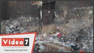 """بالفيديو.. القمامة تحاصر الأموات بمقابر """"الإمام الشافعى"""""""