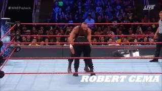WWE Braun Strowman vs Roman Reigns Payback 2017 Highlights