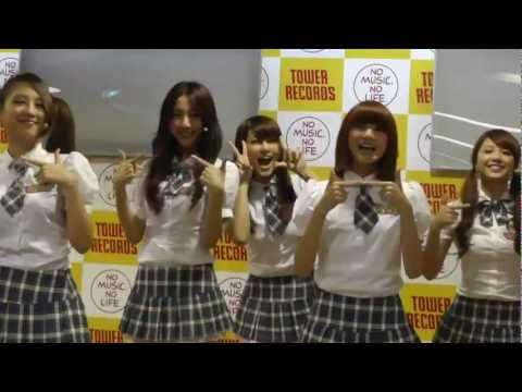 121014 Weather Girls(ウェザーガールズ)タワレコ 天気予報パーフォーマンス