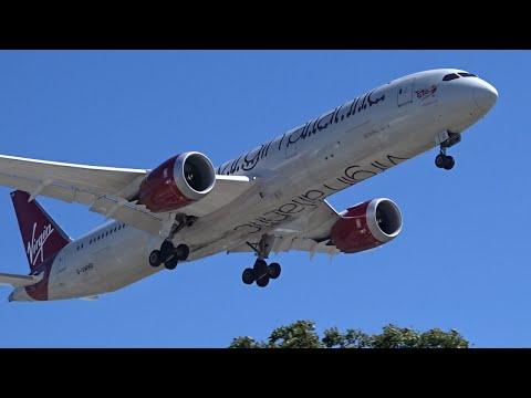 Virgin Atlantic Boeing 787-9 [G-VWHO] landing at Los Angeles (LAX/KLAX)