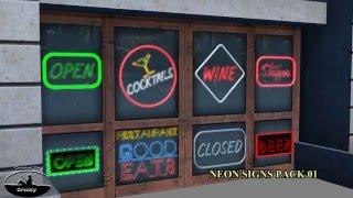 Neons Package 01 - Signs Borders