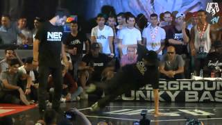 underground funky base vol 8 world final 1 vs 1 b-boy quarter-final (mod vs fero)