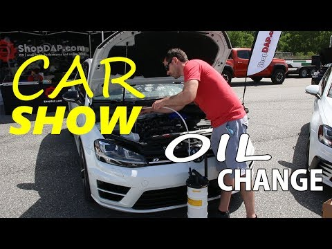Oil Extractor Oil Change DIY on a VW MK7 Golf R