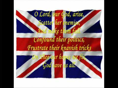 God Save The Queen (With lyrics)
