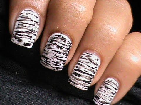 black and white nail art  dresslink review  nails polish