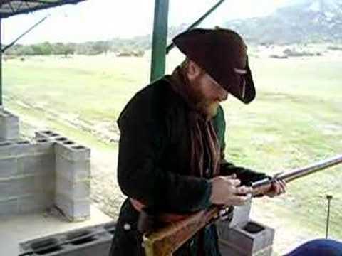 Shooting a Flintlock Rifle